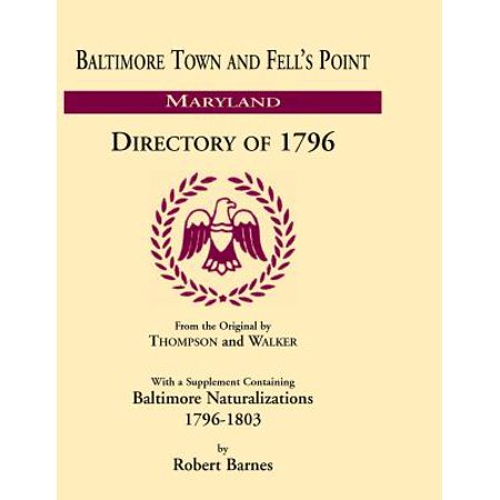 Baltimore and Fell's Point Directory of 1796](Fells Point Halloween)