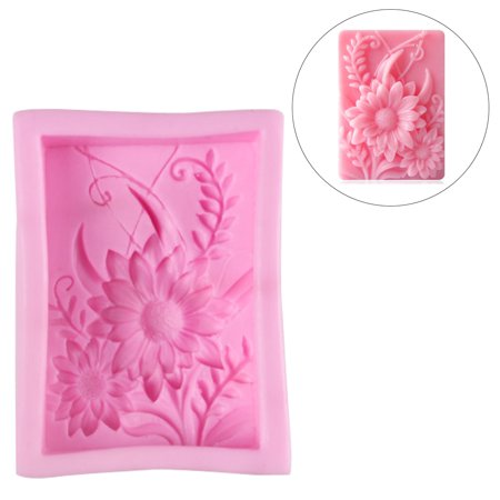 - Silicone 3D Flexible Sunflower Candle Soap Making Mould For Soaps Cake Handmade DIY Mold