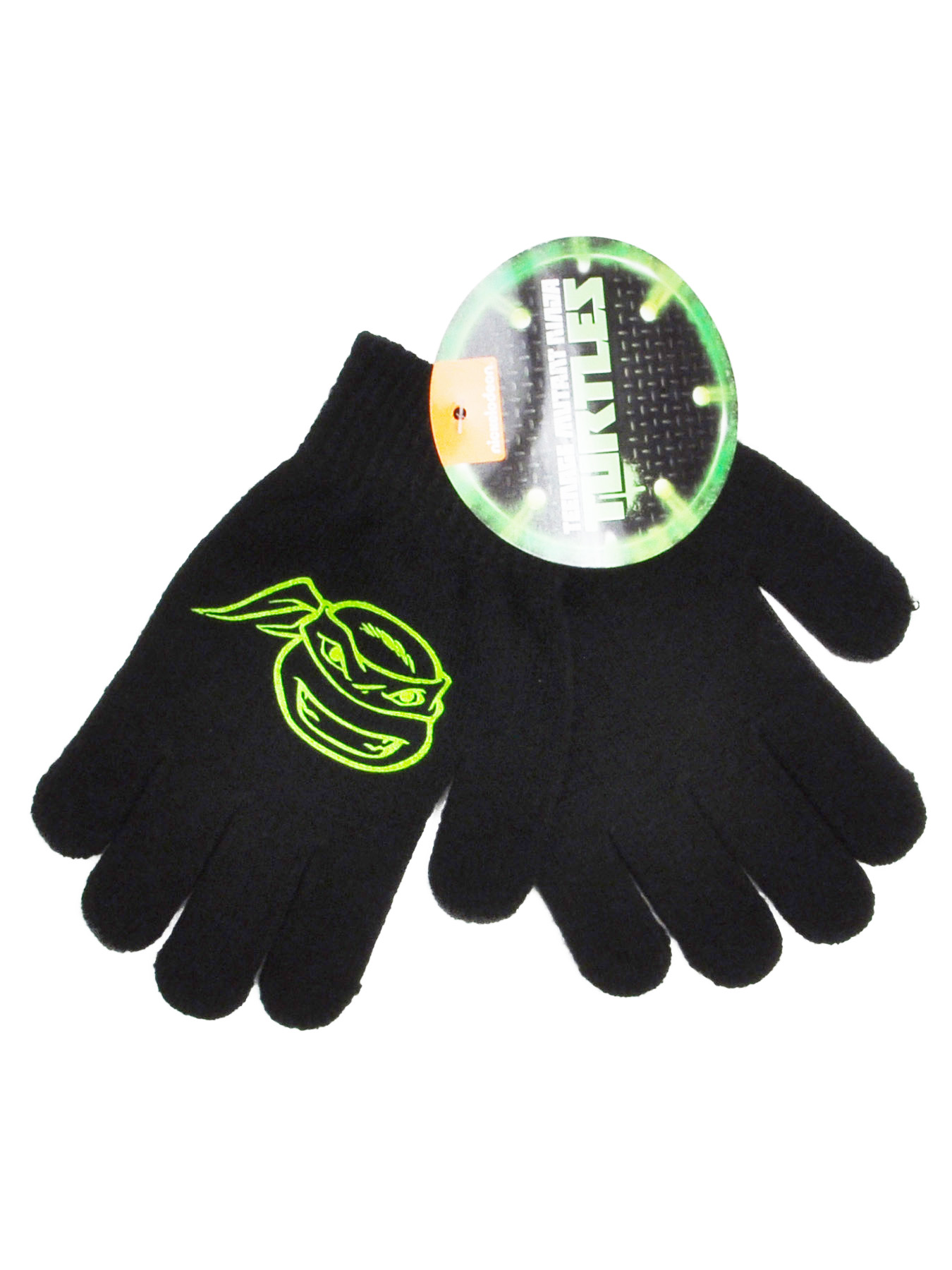 Boys Teenage Mutant Ninja Turtles Gloves Mittens Black 1-PAIR
