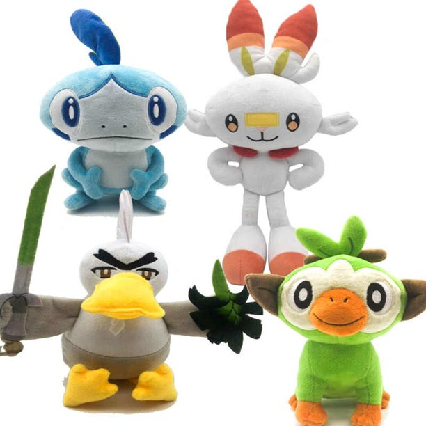 4 Set Sword Shield Pokemon Plush Set Scorbunny Grookey Sobble Sirfetch D Stuffed Animal Doll Toy Walmart Com Walmart Com Get it today with same day delivery, order pickup or drive up. 4 set sword shield pokemon plush set scorbunny grookey sobble sirfetch d stuffed animal doll toy
