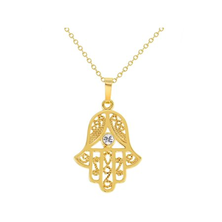 Hamsa Hand Necklace Jewish Judaica Hanukkah Amulet Protection Pendant 19