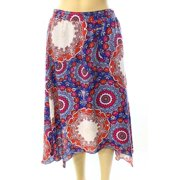 Laundry NEW Red Women's Size 4 Asymmetrical Medallion Print Skirt $59