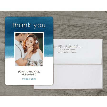 Personalized Wedding Thank You Card - We Do - 5 x 7 Flat Deluxe