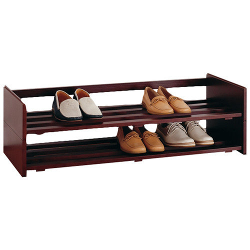 Organize It All Mahogany Stackable Shoe Rack