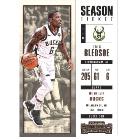 Eric Ball (2017-18 Panini Contenders Season Ticket #23 Eric Bledsoe Milwaukee Bucks Basketball)