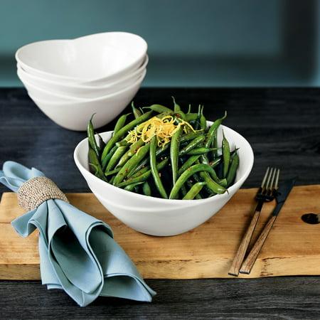 overandback Porcelain Nested Tulip Shaped Serve Bowls, set of 4