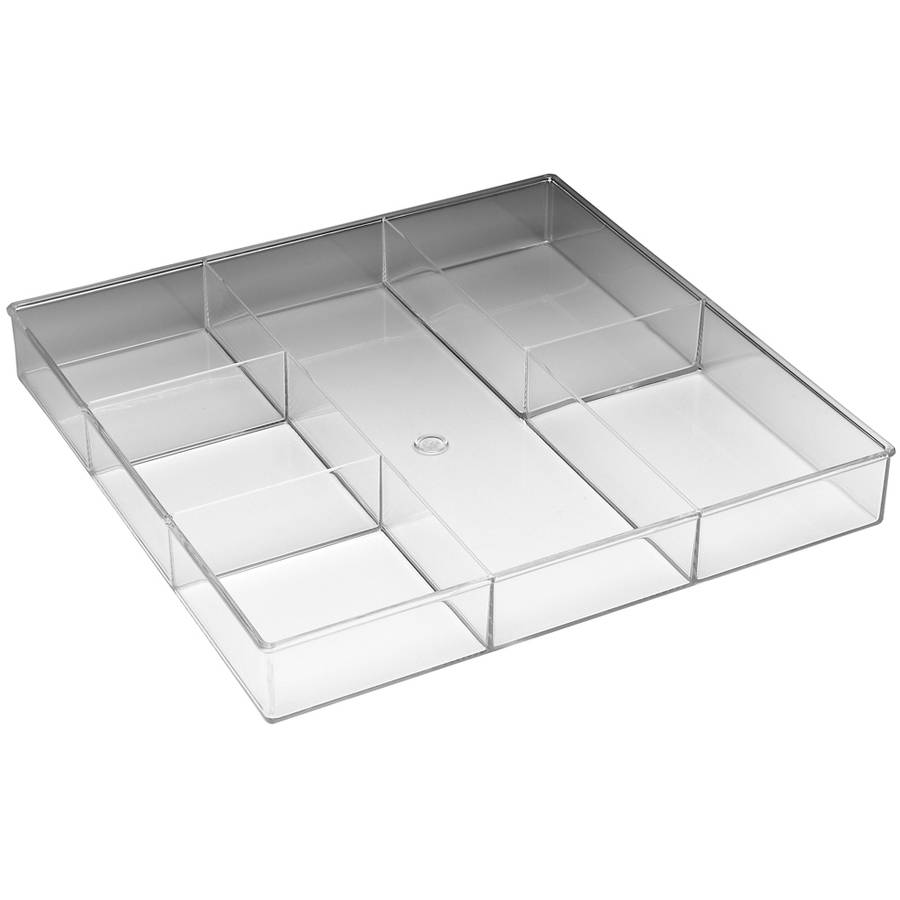 Whitmor 6789-3065 6 Section Clear Drawer Organizer