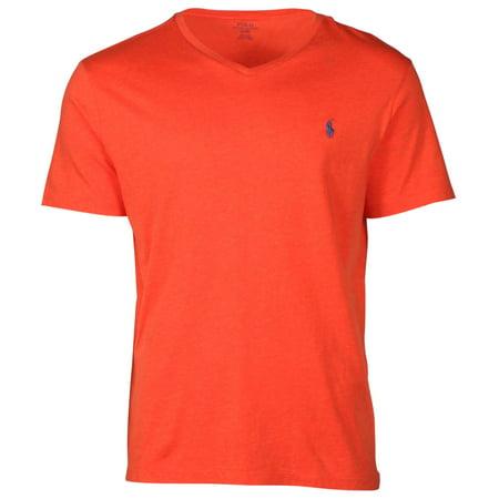 Polo Ralph Lauren Mens Classic Fit V Neck T Shirt Hopi Orange