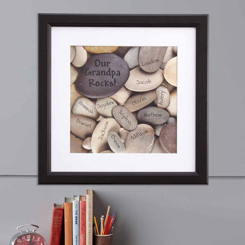 Personalized Rocks Framed Print-Multiple
