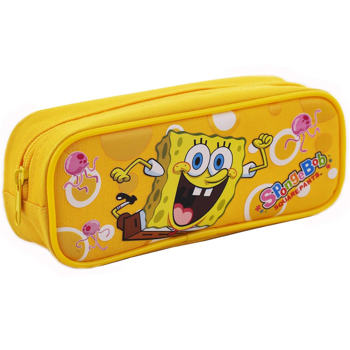 Spongebob Character Single Zipper Yellow Pencil Case