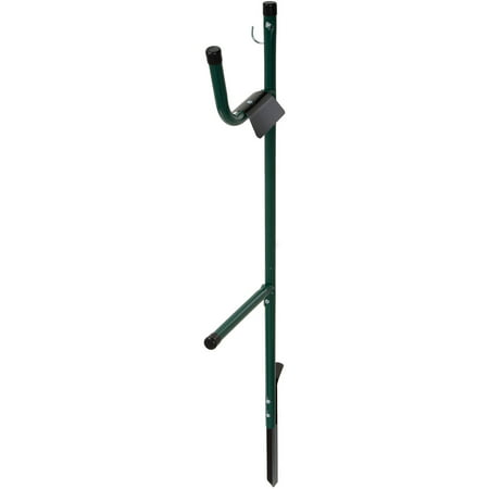 Garden Hose Holder Caddy- Easy Install Outdoor Free Standing Metal Rack for Hose Management, Store and Organize Water Hose in Yard by Stalwart (Easy Metal)