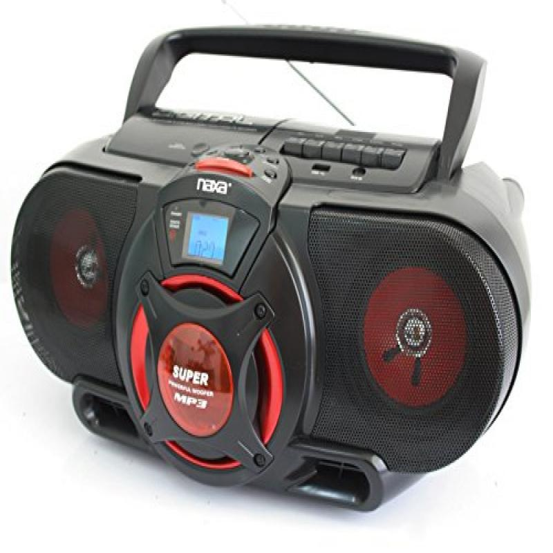 NAXA Compact Portable Stereo Boombox with Cd Player & Tap...