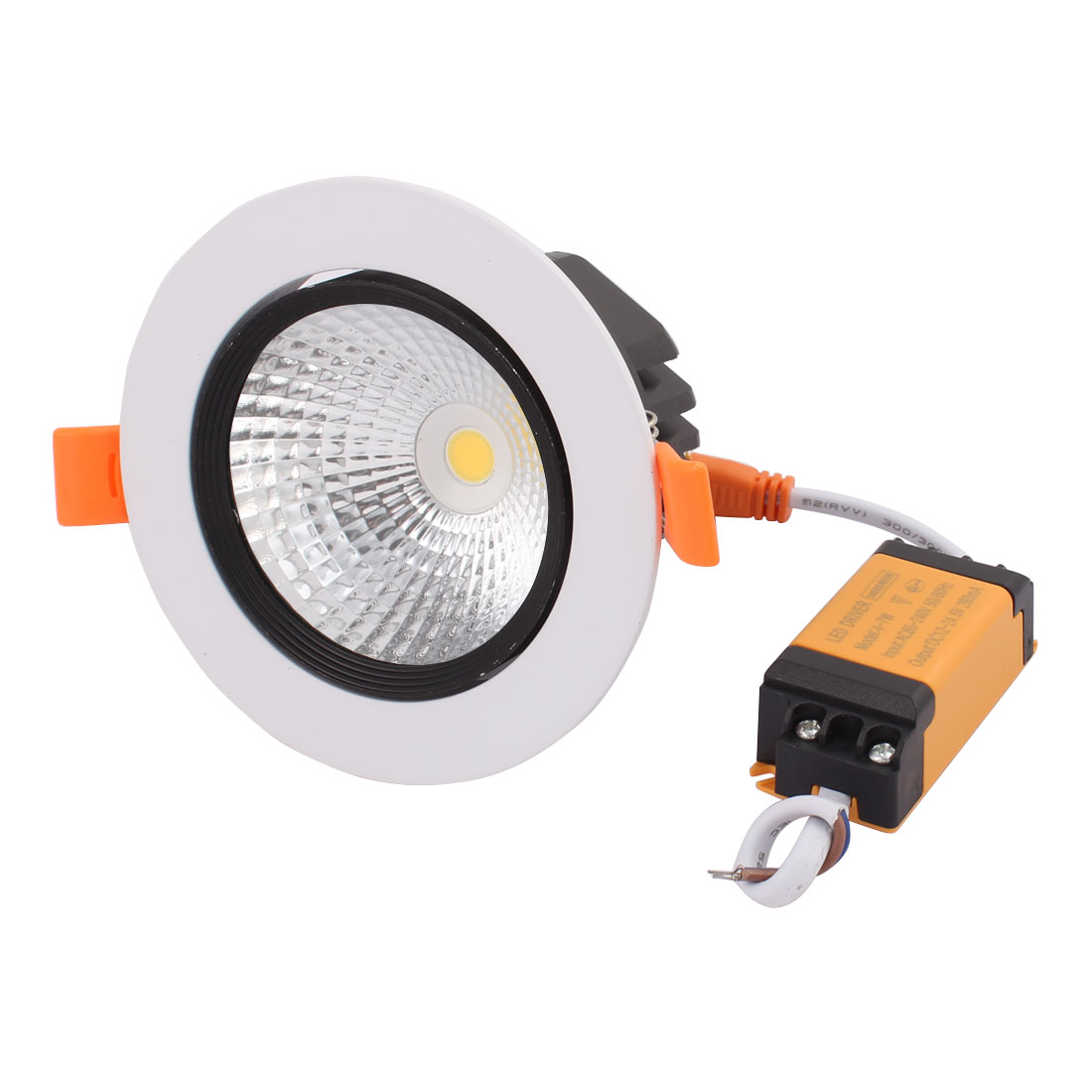 AC85-265V 7W 4000K 24 Degree White Black  COB Ceiling Lamp with  Driver - image 3 of 3