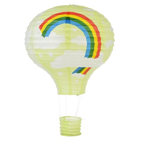 Quasimoon Light Lime Rainbow Hot Air Balloon Paper Lantern by PaperLanternStore](Hot Air Balloon Lanterns)