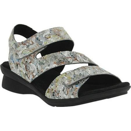 be8e843b4e9 Women s Spring Step Nadezhda Strappy Sandal Gray Multi Printed Leather 36 M  - image 7 ...