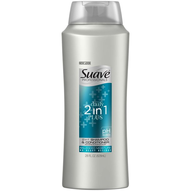 Suave Professionals Daily Plus 2 in 1 Shampoo and Conditioner Formula With Mico-Moisturizing Complex for Cleansed Hair 28 oz