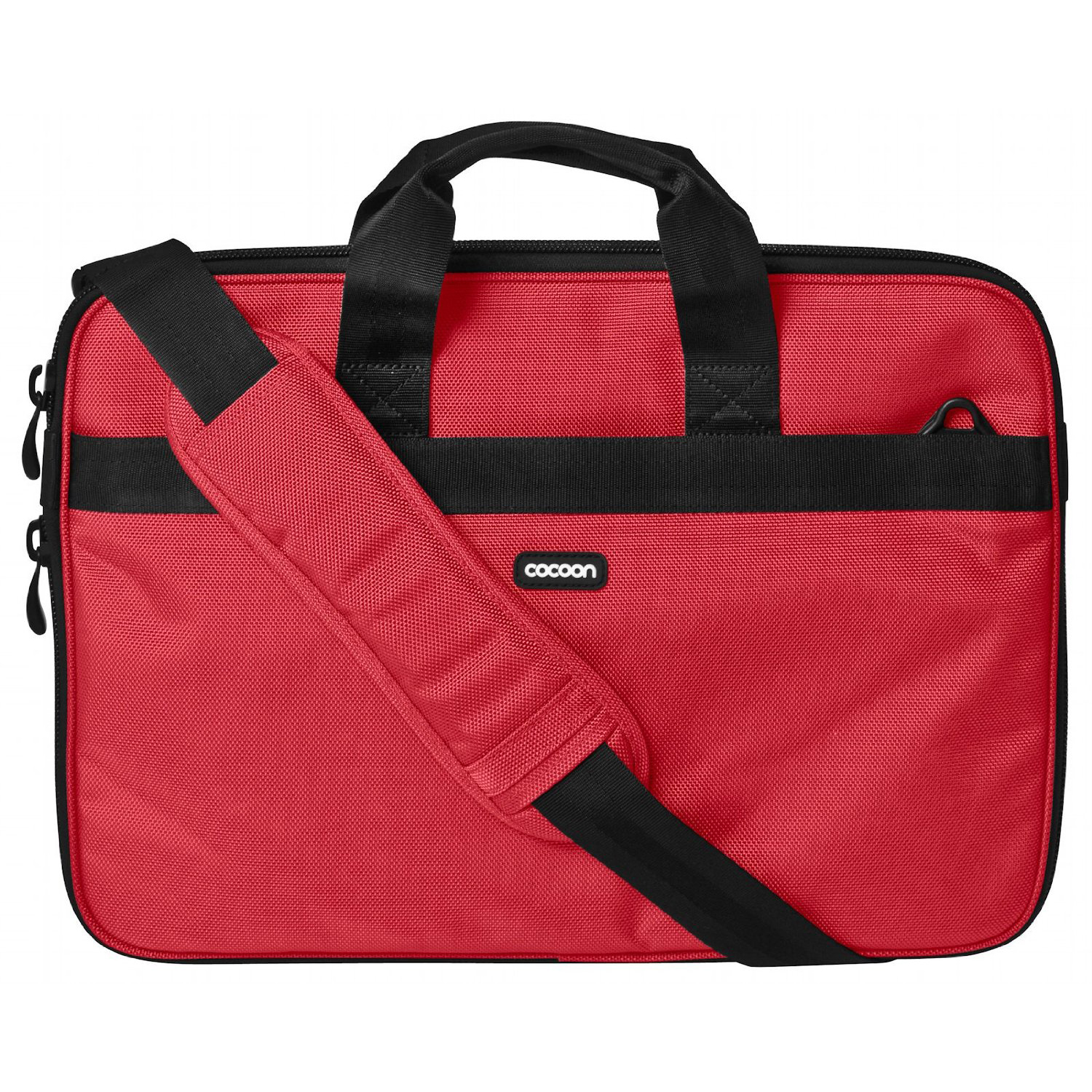 "Cocoon CLB409 15.6"" Ballistic Nylon Laptop Case Bag w/Strap & Grid-It System-Red"