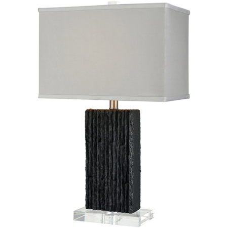 Table Lamps 1 Light With Black Finish Slate Faux Silk Material E26 Bulb Type 25 inch 100 Watts