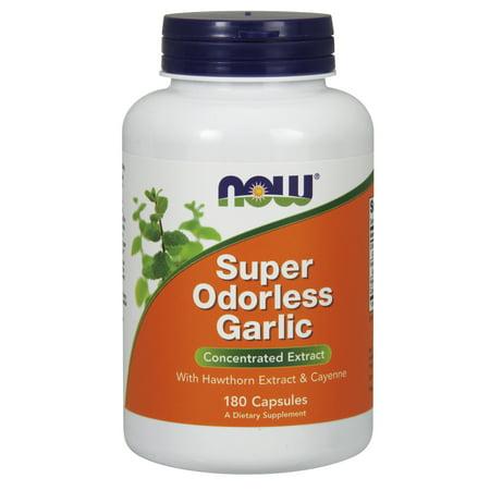 - NOW Foods Super Odorless Garlic Extract, 180 Ct