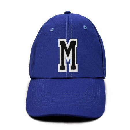 Varsity Letter Initial Traditional Cotton Embroidered Baseball Cap (IPCOCAP4)