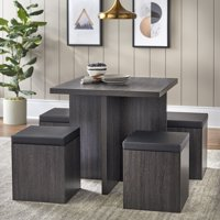 Mainstays 5-Piece Dexter Dining Set with Storage Ottoman