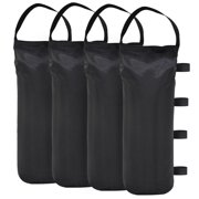 Eurmax 112 LBS Extra Large Pop up Canopy Weights Sand Bags for Outdoor Instant Canopies, 4-Pack,Black (Without Sand) Dark Black
