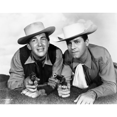 Martin and Lewis in cowboy costumes Photo Print - Marvin Costume