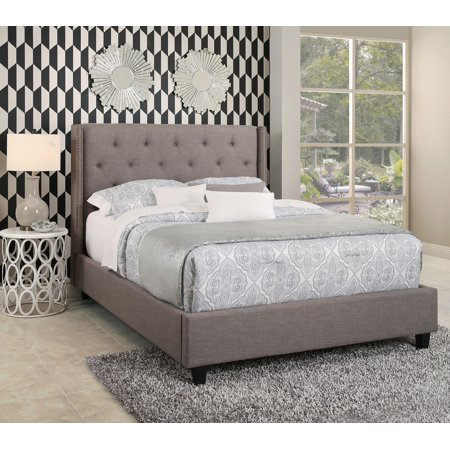 Devon & Claire Casey Tufted Upholstery Platform Bed, (Queen Anne Upholstery)
