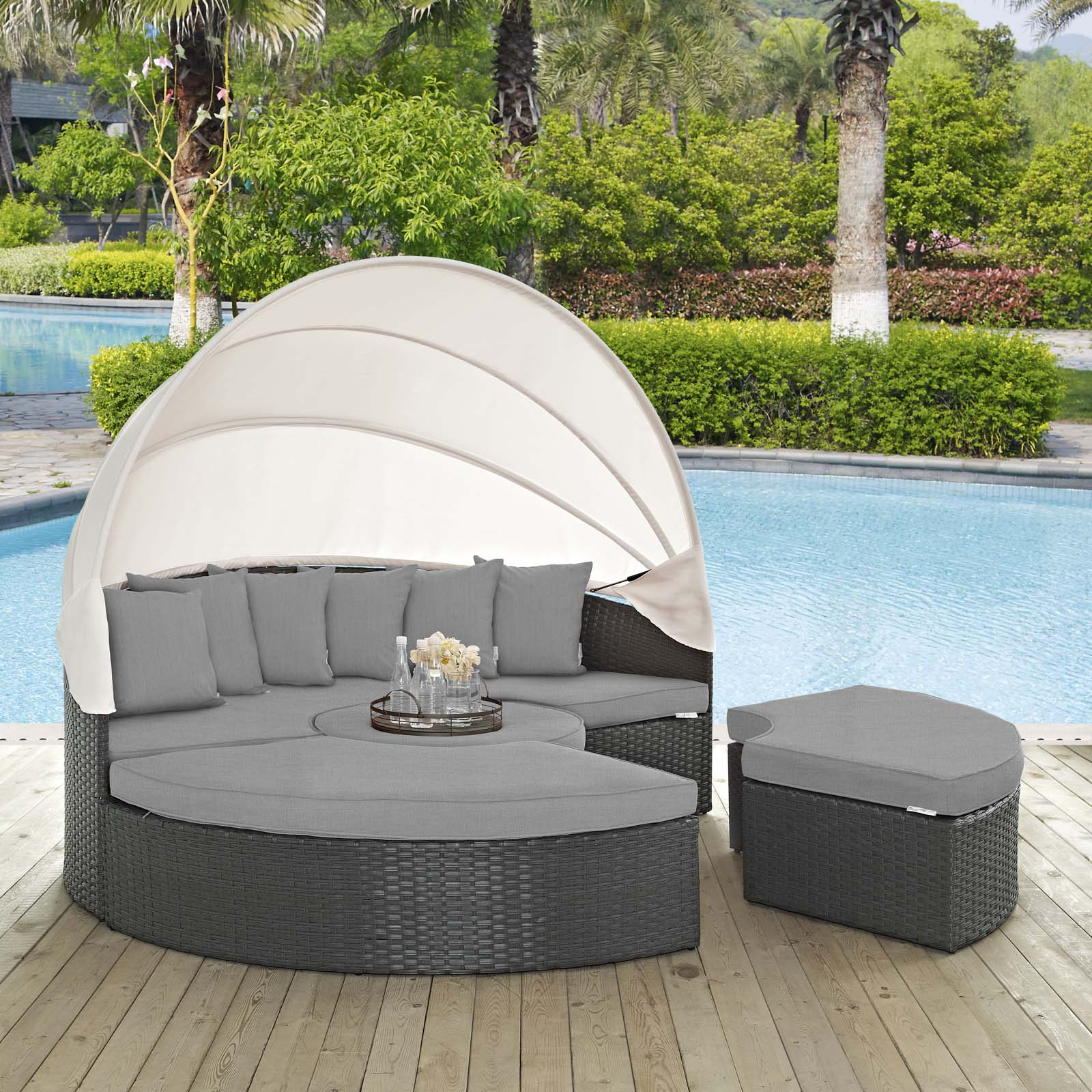 Modway Sojourn Outdoor Patio Sunbrella® Daybed, Multiple Colors