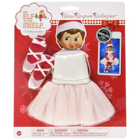 Elf on the Shelf Claus Couture Twinkle Toes Tutu, Includes a dress, featuring a tutu made of light pink tulle By The Elf on the Shelf](Elf On A Shelf Sale)