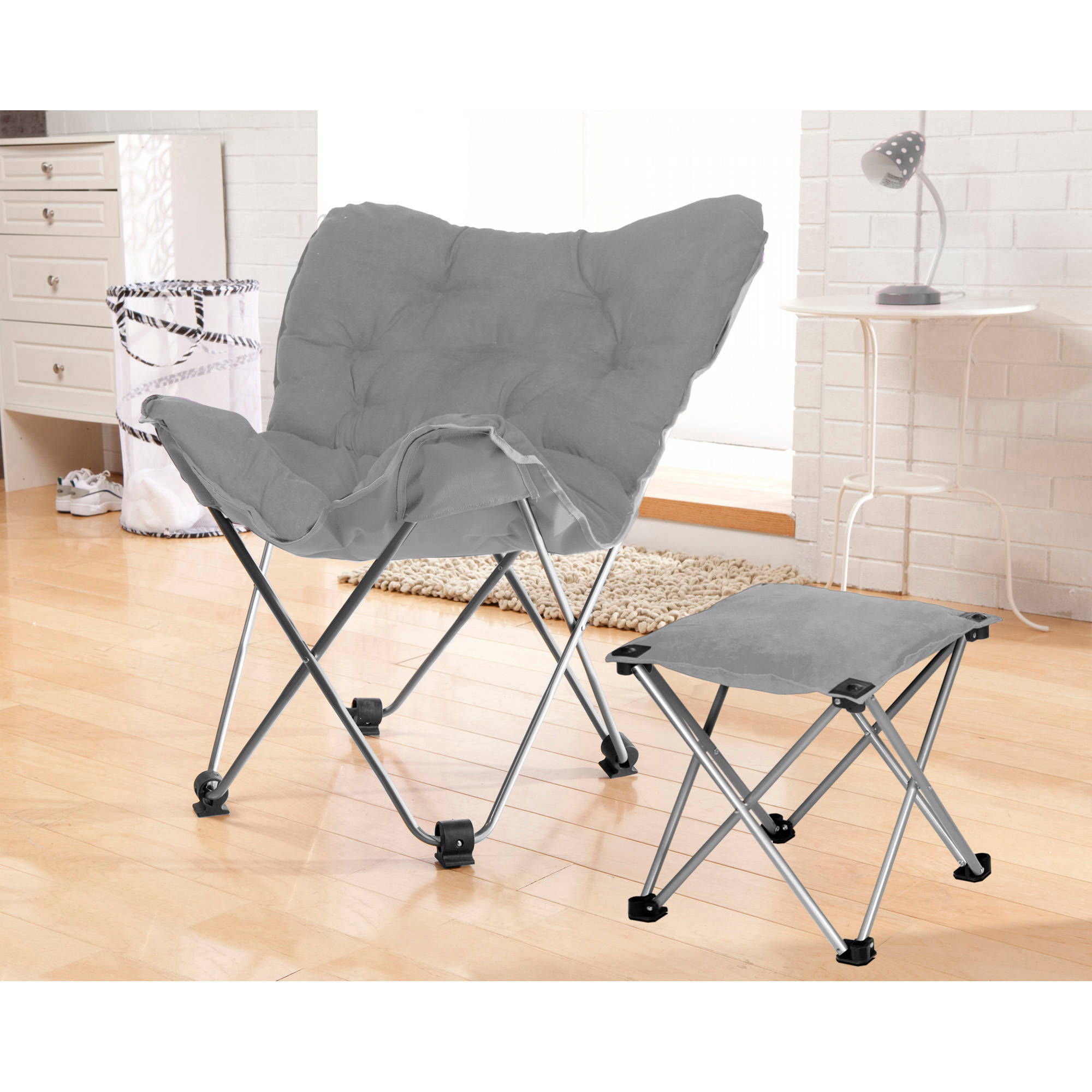 your zone butterfly chair with foot rest stool, multiple colors