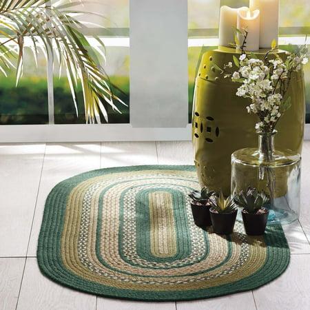 Pine Green Rustic & Lodge Flooring Sherwood Jute Oval Accent Rug