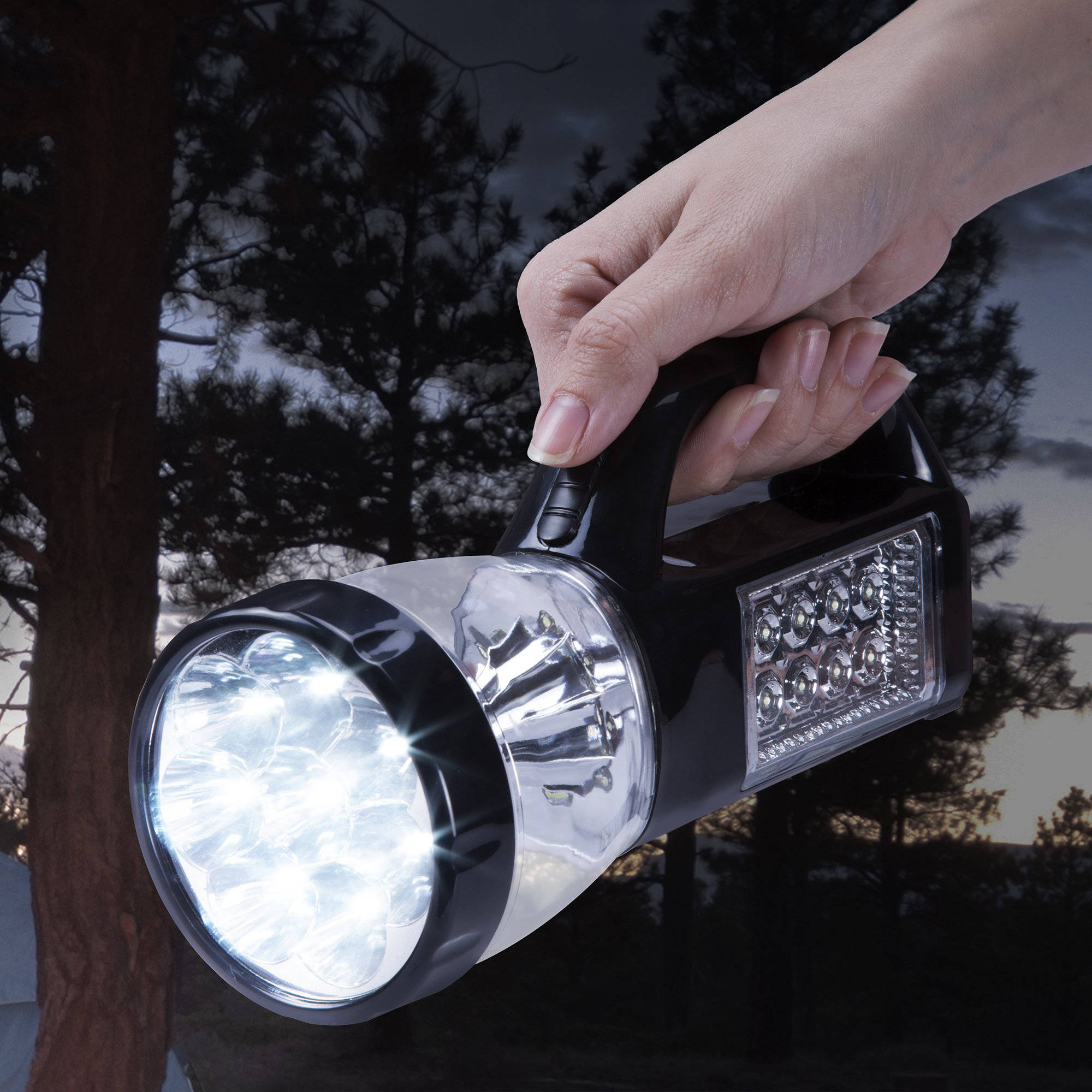 Click here to buy 3 in 1 LED Lantern, Flashlight and Panel Light, Lightweight Camping Lantern By Wakeman... by Trademark Global LLC.