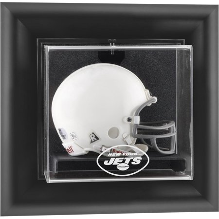 New York Jets Black Framed Wall-Mountable Mini Helmet Display Case