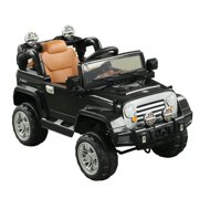 Aosom 12V Kids Electric Battery Powered Ride On Toy Off Road Car Truck w/ Remote Control - Black
