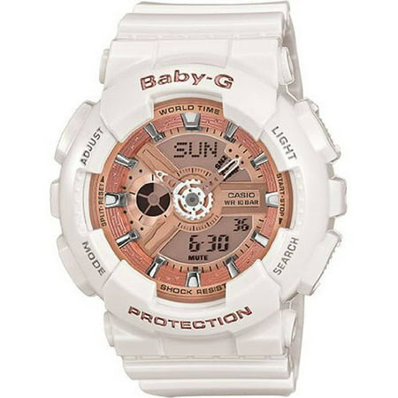 Baby-G White Ladies Watch BA110-7A1CR (Baby G Shock Watches Women Red)