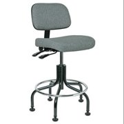 Bevco Task Chair, Upholstered, 300 lb. Weight Limit, Gray, 5201 GRAY