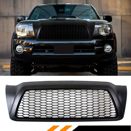 FOR 2005-2011 TOYOTA TACOMA MATT BLACK JDM FRONT HOOD HONEYCOMB MESH GRILL GRILLE REPLACEMENT