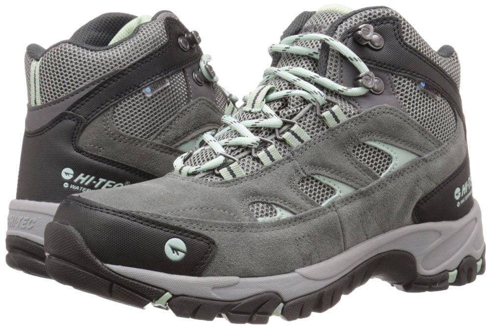 Hi-Tec 22052 Logan Mid Womans Waterproof Hiking Boots Charcoal Cool Grey Lichen by Hi-Tec