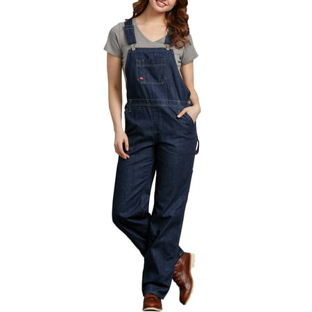 Bib Overalls Hi Back Zipper - Women's Denim Bib Overall Jeans