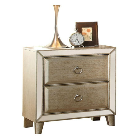 Acme Voeville Nightstand, Antique Silver ()
