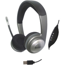 SYBA Multimedia Connectland Headset - Stereo - USB, Mini-phone - Wired - 32 Ohm - 20 Hz - 20 kHz - Over-the-head - Bin