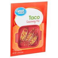 Great Value Seasoning Mix,Taco, 1.25 oz, 4 Pack