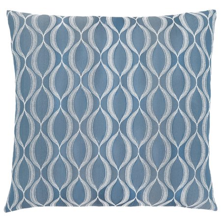 Monarch Wave Throw Pillow in Blue