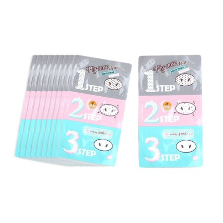 (10 Pack)Holika Holika Pig Nose Clear Black Head 3-step Kit / Korea (Pig Nose Clear Blackhead 3 Step Kit)