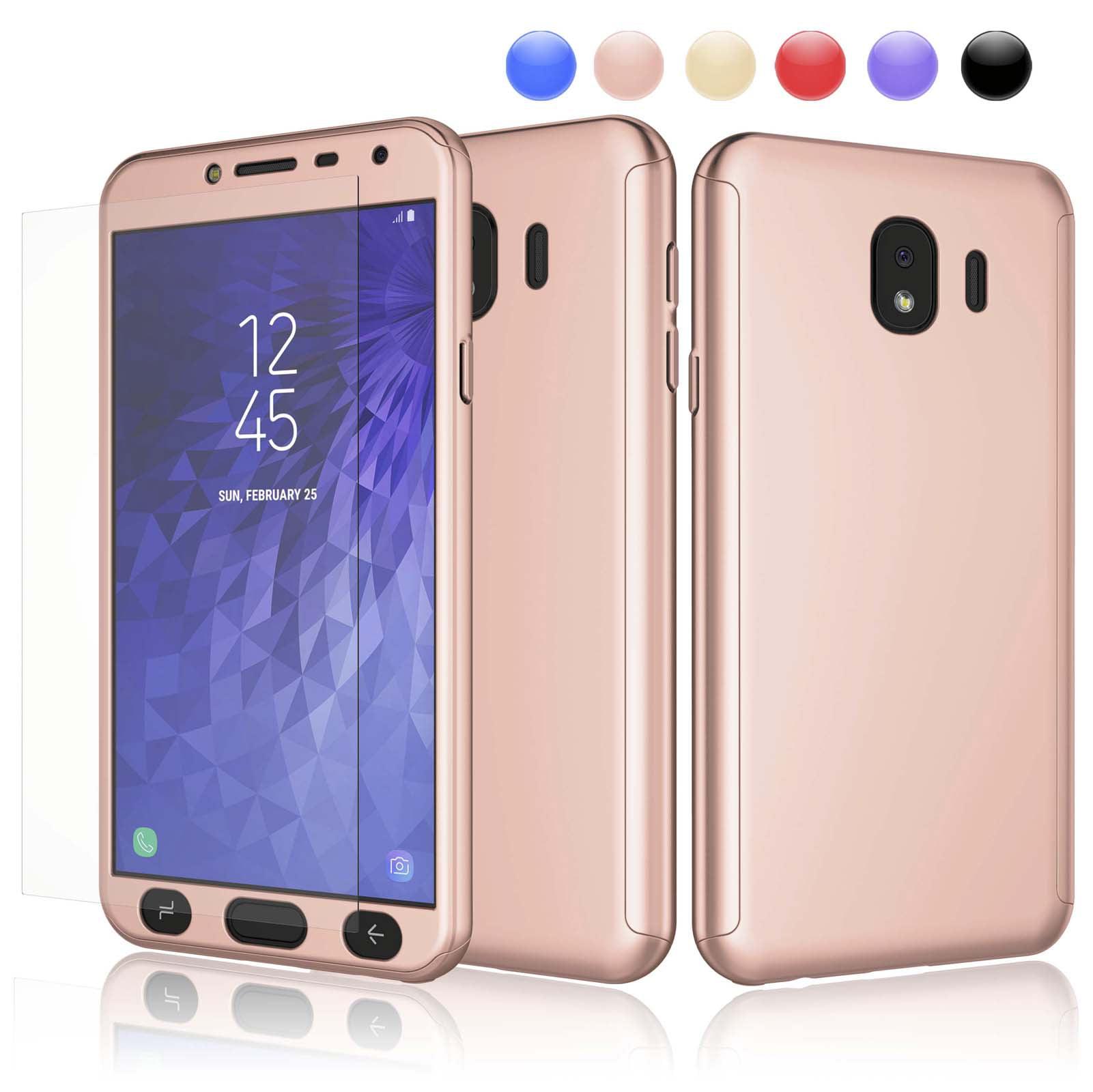 Cases for Samsung Galaxy S9 / S9+ / S10 / S10+ / S8 / S8+ / S7 / S7 Edge / Note 9 / J4 2018 / J6 2018, Njjex Ultra Thin Premium Dual Layer Plastic Hard Case with Screen Protector Skin