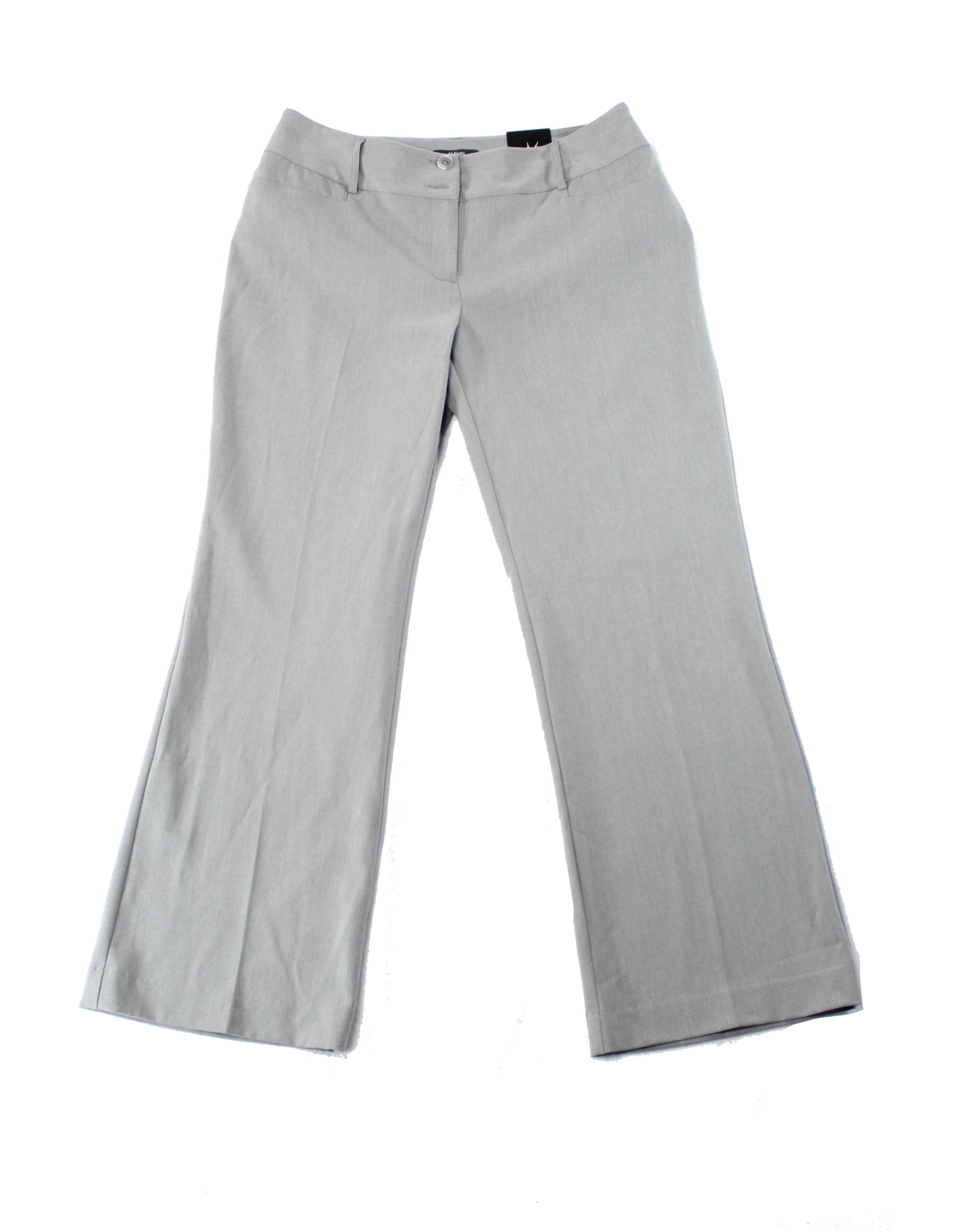Alfani NEW Gray Womens Size 10S Short Curvy Fit Trouser Dress Pants