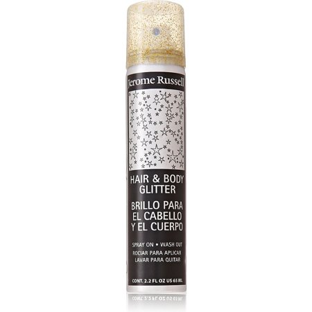 Jerome Russell Hair and Body Glitter Spray, Gold 2.2 oz (Pack of 2)](Spray Hair Glitter)