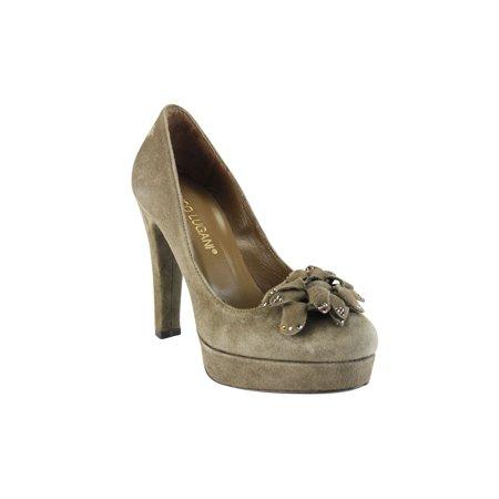 (Enrico Lugani Womens Pump Heels Size 6 US / 36 EU Brown Suede)