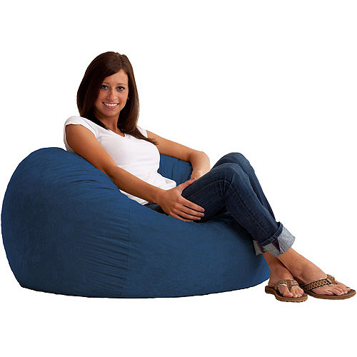3' Fuf Comfort Suede Bean Bag, Multiple Colors